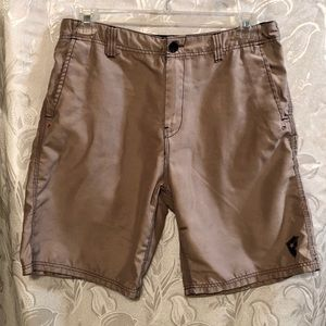 Famous Stars And Stripes Board Shorts Tan Size 32